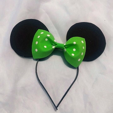 Tiara da Minnie, - laço verde