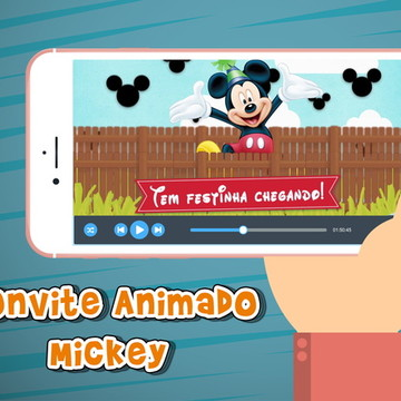 Convite animado virtual Mickey