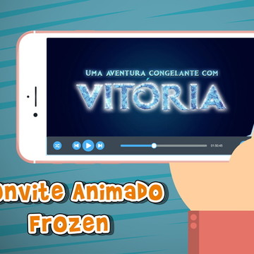 Convite animado virtual Frozen