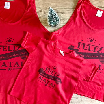 blusa Natal família personalizada