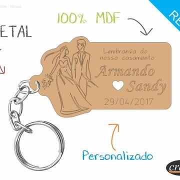 Chaveiro Personalizado Casamento - Noivos