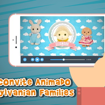 Convite Animado Sylvanian Families