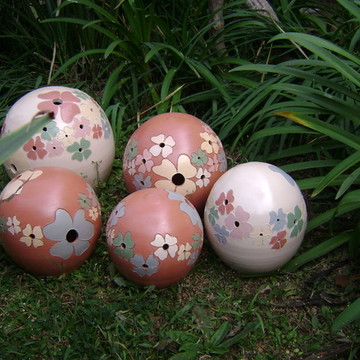 """Bola de Jardim """"Flores"""""""