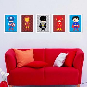 5 Quadros de Super Heróis