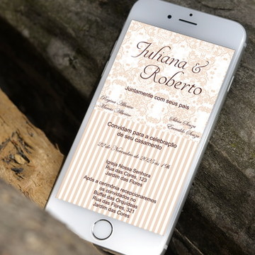 Convite Digital Casamento Salmão - PROMOÇÂO