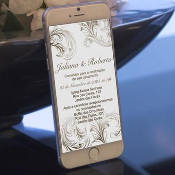 Convite Digital Casamento Marrom - PROMOÇÂO
