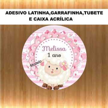 Adesivo Latinha Ovelhinha .