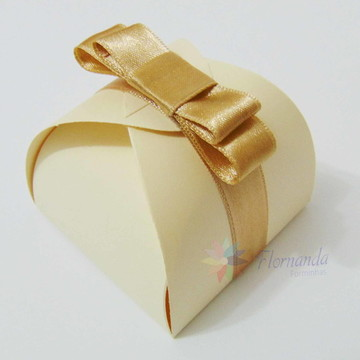 20 Caixinhas embalagem para Bem Casado Com Laço