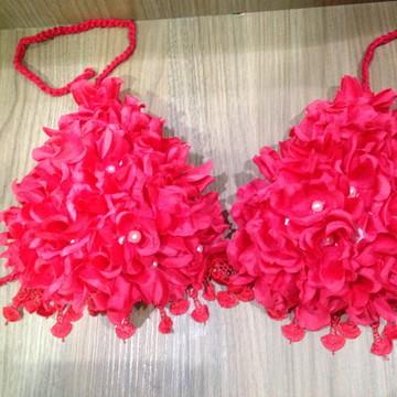 Top rosas/carnaval/fantasia