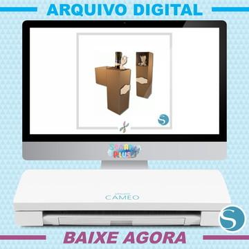 Arquivo Digital De Corte Silhouette Scrap - Caixa De Vinho 3