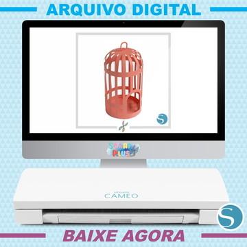 Arquivo Digital De Corte Silhouette Scrap - Gaiola 3d Rodada