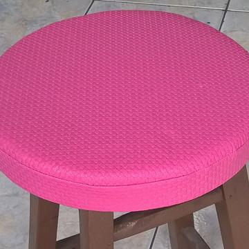 Capa Rosa para Banqueta/Banco com Espuma