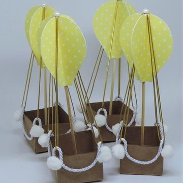 Mini Balão Lembrancinha / Enfeite de Mesa Amarelo