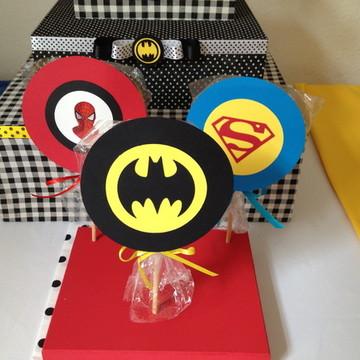 Pirulito personalizado Super Heróis