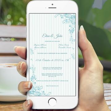 Convite Digital Casamento Tiffany - PROMOÇÂO