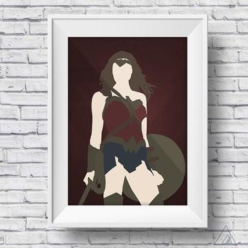 Arte para poster Mulher Maravilha