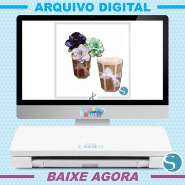 Arquivo De Corte Silhouette Scrap - Vaso De Flor 3d