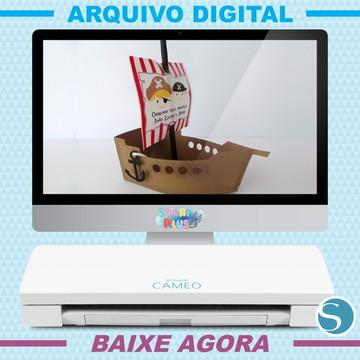 Arquivo De Corte Silhouette - Barquinho Pirata 3d