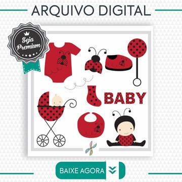 REF:PNG-0006- Arquivos PNG -Silhouette Scrap - Joaninha Baby