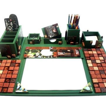 """Organizador de mesa """"NATUREZA"""" (peça única) com 6 peças"""