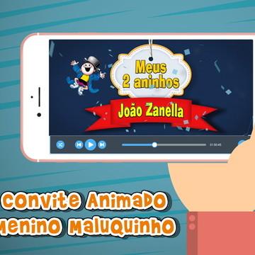 Convite Animado Menino Maluquinho