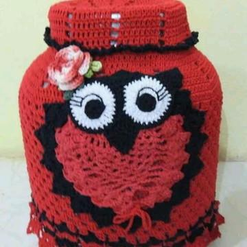 Capa de botijão de gás em crochê