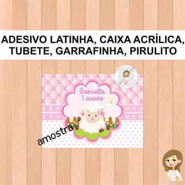 Adesivo Garrafinha Ovelhinha .