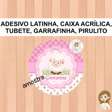 Adesivo Latinha Ovelhinha