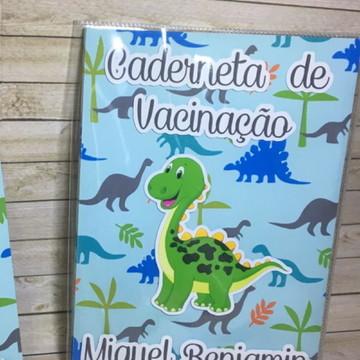 Capa para caderneta de vacinação Dinossauro