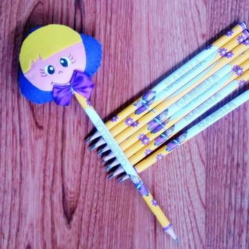 Kit escolar Lápis personalizado e ponteira
