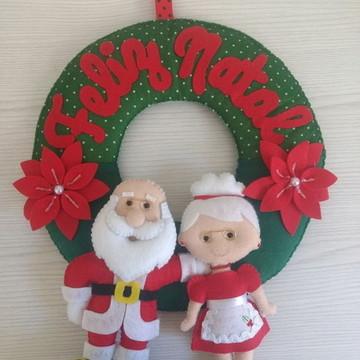 Guirlanda Natal Slim Papai e Mamãe Noel
