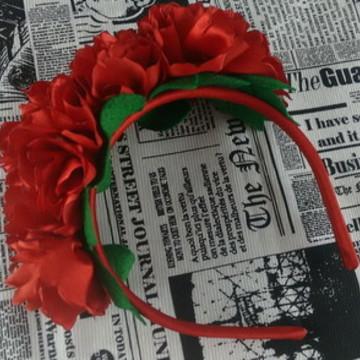 Tiara coroa de flores Frida Kahlo carnaval