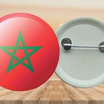 Bottons com alfinete 3,5 cm Marrocos