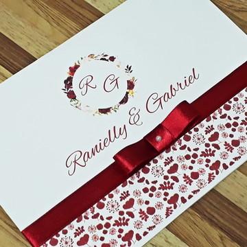 PROMOÇÃO CONVITE GRANDE - Convite Casamento barato