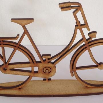 bicicleta mdf com 25 cm de comprimento com base