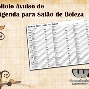 Miolo Avulso Agenda de Salão 3 Profissionais