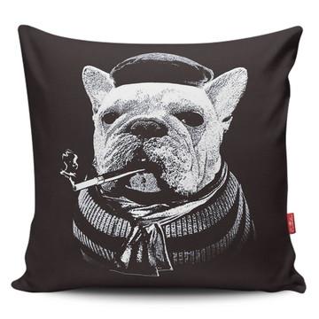 Almofada Personalizada Bulldog Francês - Preto
