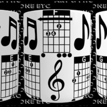 CANECA DE NOTAS MUSICAIS