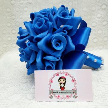 Buquê para pré wedding Azul