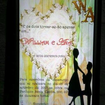 Convite de Casamento Digital -pronta entrega-