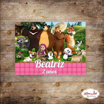 Adesivo Marsha e o urso - maletinha acrílica