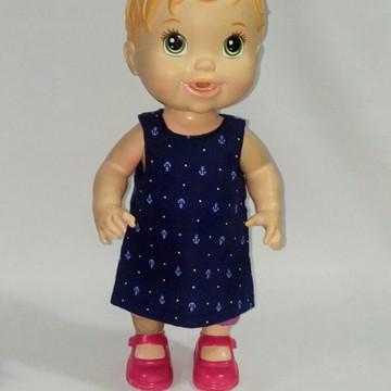 Vestido de boneca Baby Alive + calcinha