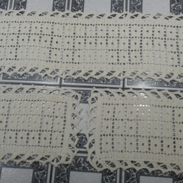Jogo de tapete de croche 03 peças