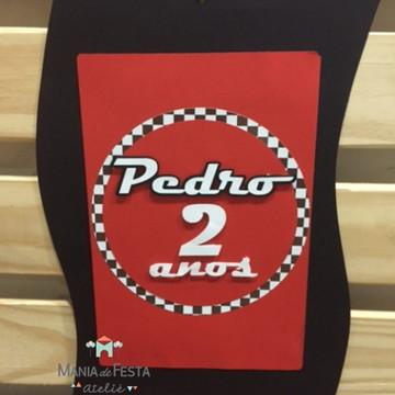 Banner / Flâmula personalizada tema Carros Disney
