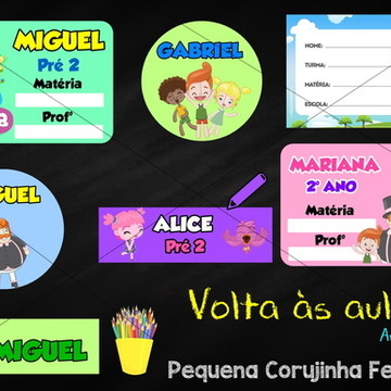 Kit para material escolar personalizado