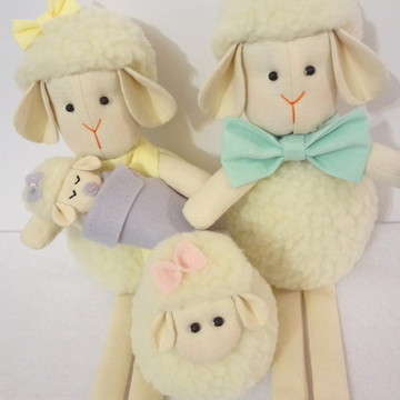 Família de Ovelhinhas Candy Colors