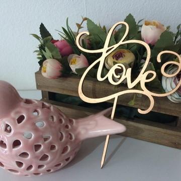 Topo de Bolo - Love com Encaixe