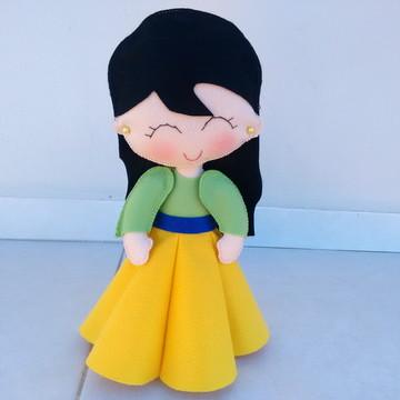 Princesa Mulan em Feltro