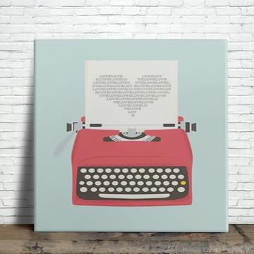 Azulejo Decorativo Máquina de Escrever
