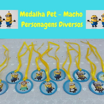 Medalha Pet macho- Personagens